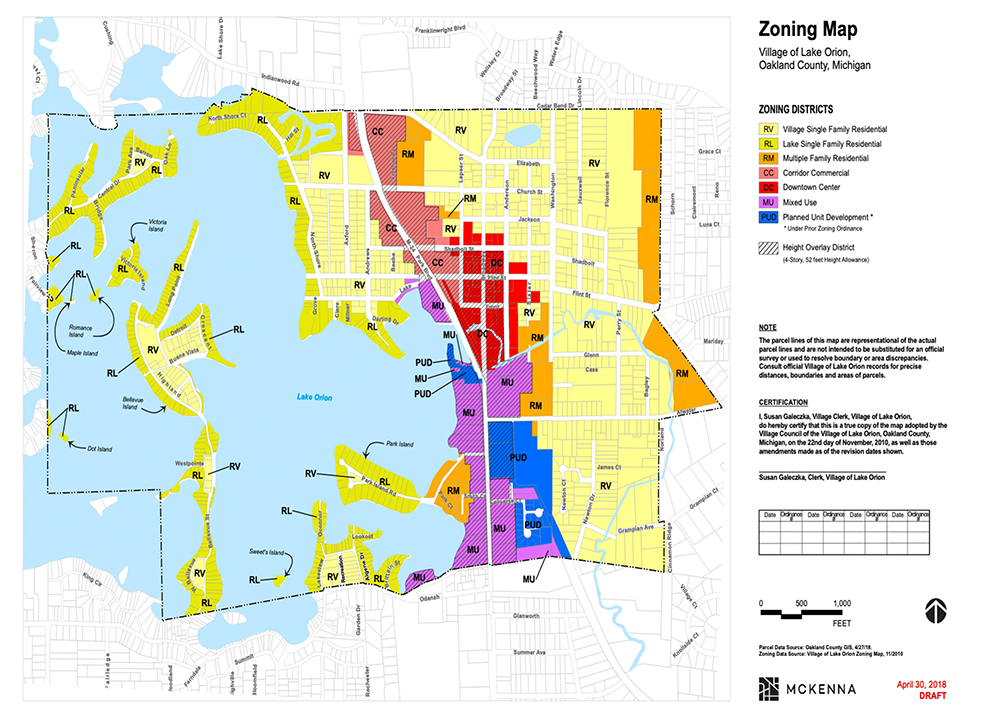websize2018ZoningMapVillageofLakeorion